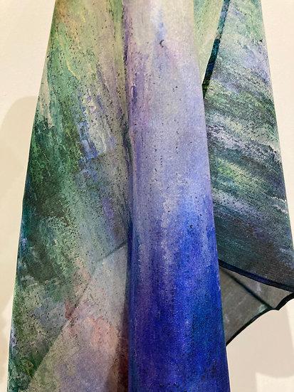 Play of Light, Silk Chiffon scarf, medium