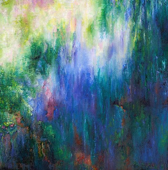 'Play of Light' - Silk Chiffon Scarf, small