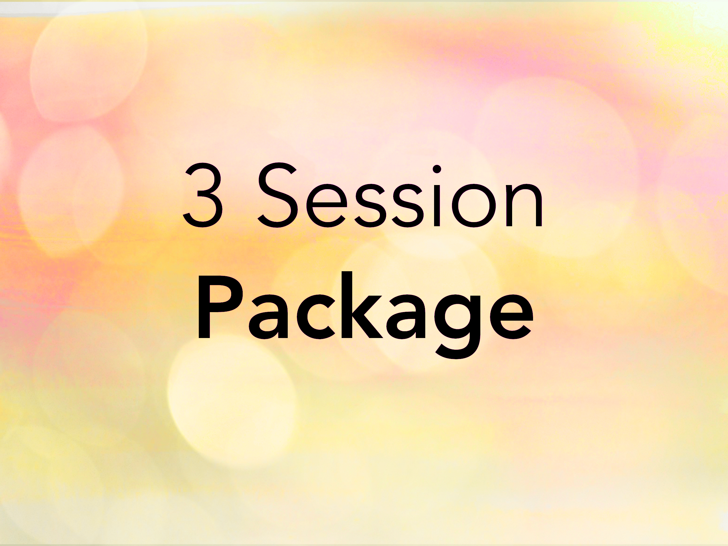 3 Session Package