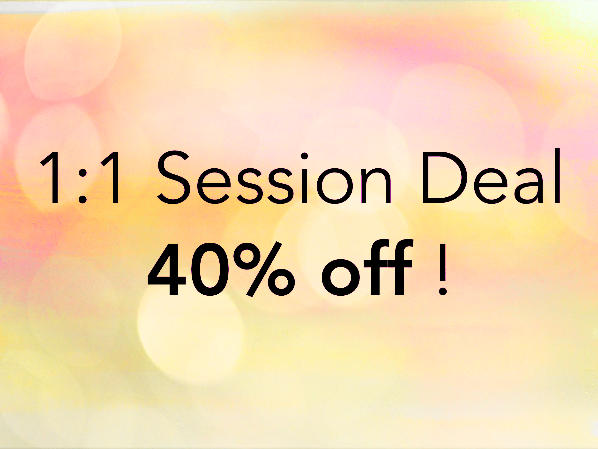 40% off Coaching & Healing Session Deal
