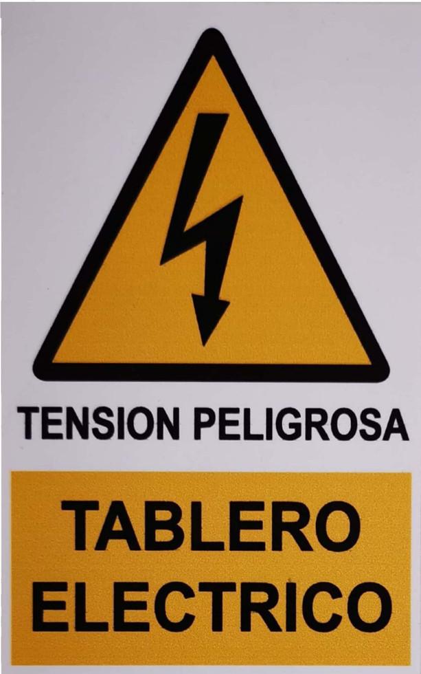 Letrero adhesivo peligro