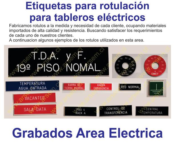 Etiqueta Tablero Electrico