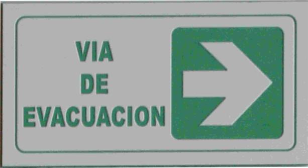 Señal Via Evacuacion