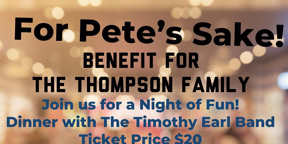 FOR PETE'S SAKE! BENEFIT