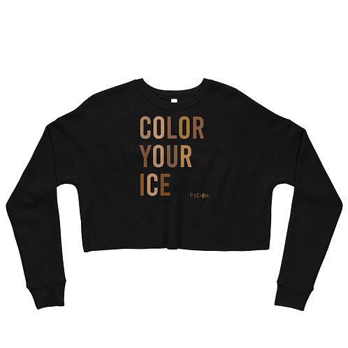 Color Your Ice Crop Sweatshirt