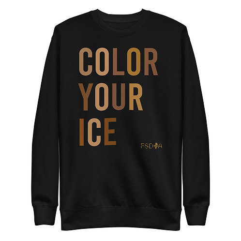 Color Your Ice Adult Crewneck