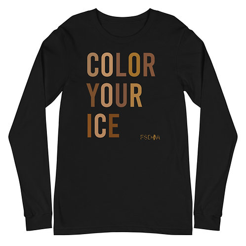 Color Your Ice Adult Long Sleeve Tee