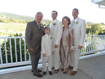 Family at Golf club Wedding
