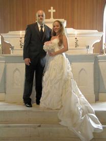Beautiful bride at her church wedding