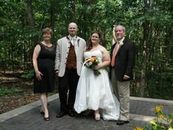 Family at the Theme Wedding