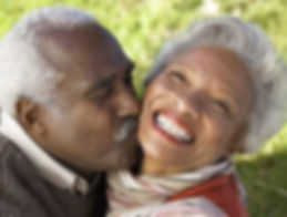 simple health education, seniors, married, couple, kissing, love, black, family, beautiful