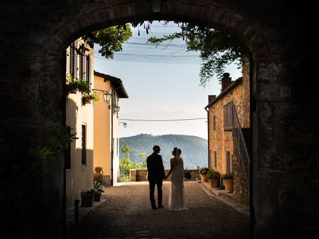Bruidsfotografie in Toscane, Italië