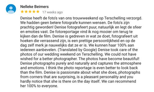 Review bruidsfotografie Denise Motz