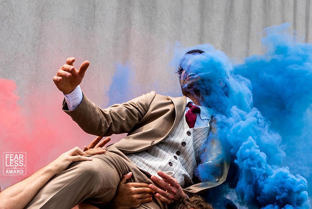 Fearless photographers award - Bruiloft in Italië rookbom