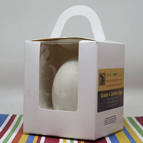1 Fresh Jumbo Goose Egg Gift Pack (single)- US SHIPPING