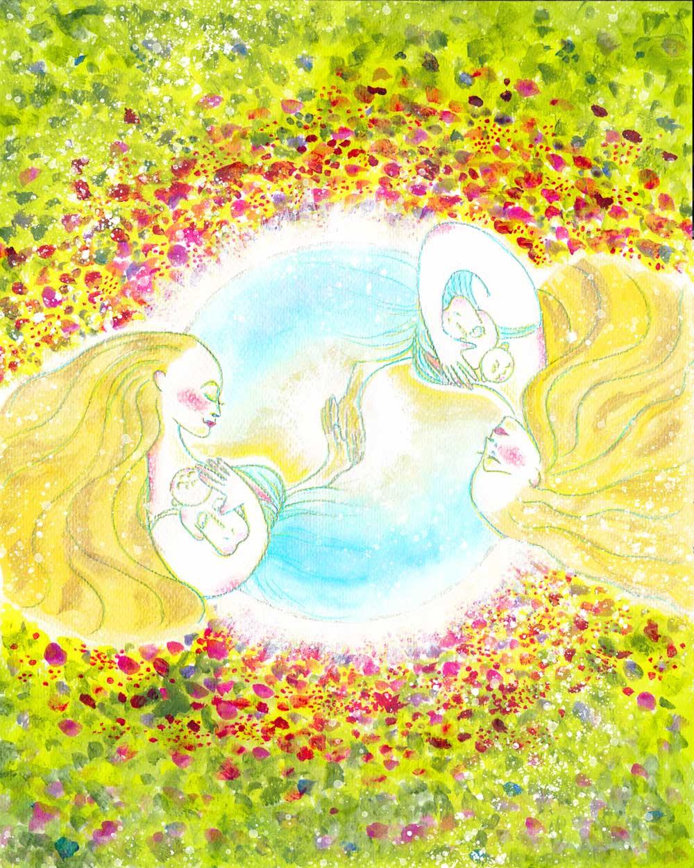 スピリチュアルアート「調和する世界へ」
