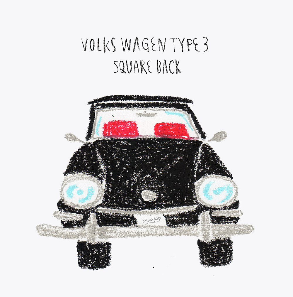 イラスト「volks wagen type3 valiant」