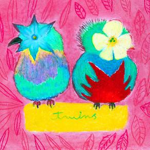 イラスト「美しい鳥」