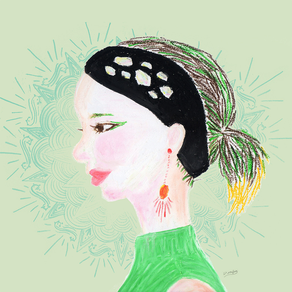 イラスト「緑の女性」