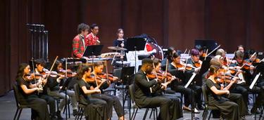 Holiday Concert, Symphony violins & perc