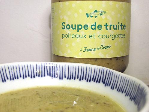 Soupe de Truite Poireaux et Courgettes