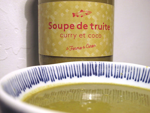 Soupe de Truite Curry et Coco