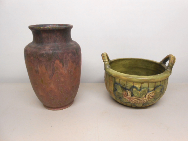 Roseville and Weller pottery
