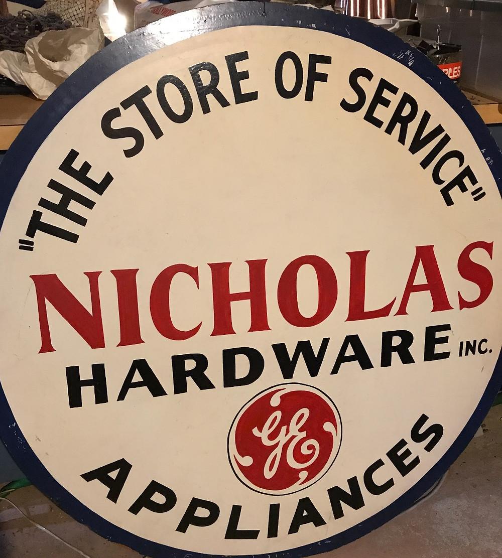 Nicholas Hardware sign