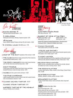 Menu Rock Café, St-Georges