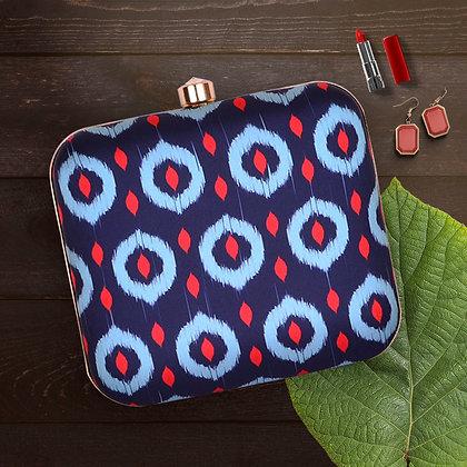 Navy Blue Red Clutch