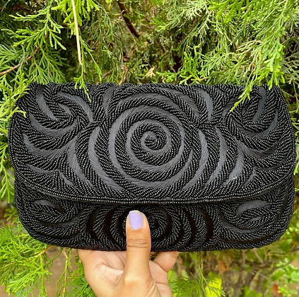 Hand Embroidered Talia Clutch