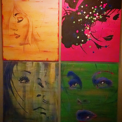 Just thought I'd repost some artwork.  I did these four a while ago.  All on matching canvas, acryli