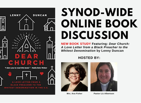 Final - ONLINE - Book Discussion of Dear Church