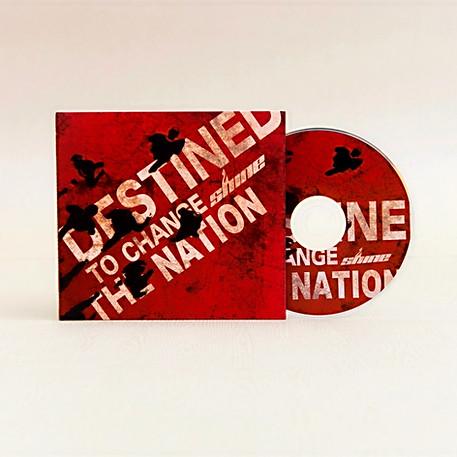 SHINE  Destined To Change The Nation Music Album Design   SHINE 青年營會專輯包裝設計