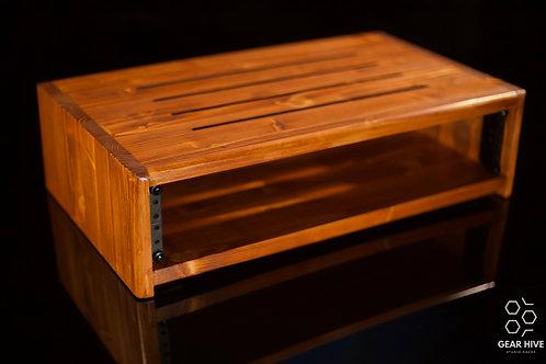 "2U Studio Rack | 12"" depth | Solid Wood"