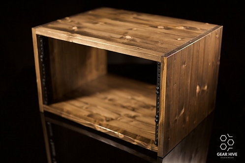 "6U Studio Rack   15"" depth   Solid Wood"