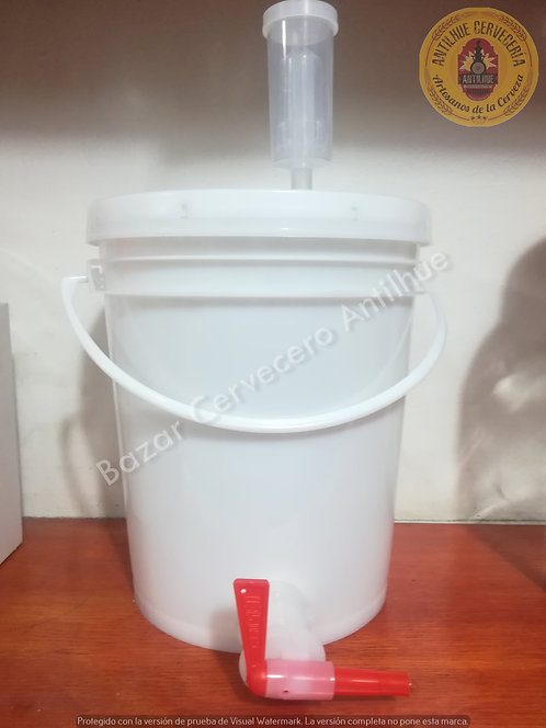 Fermentador 5 L. plástico