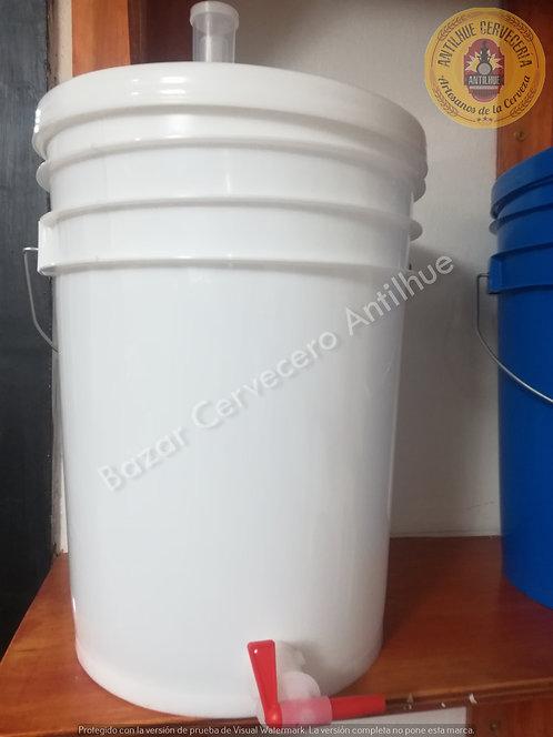 Fermentador 20 L. plástico