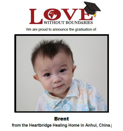 Brent Graduates from Love Without Boundaries