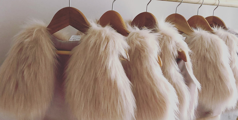 Childrens Faux Fur Vest