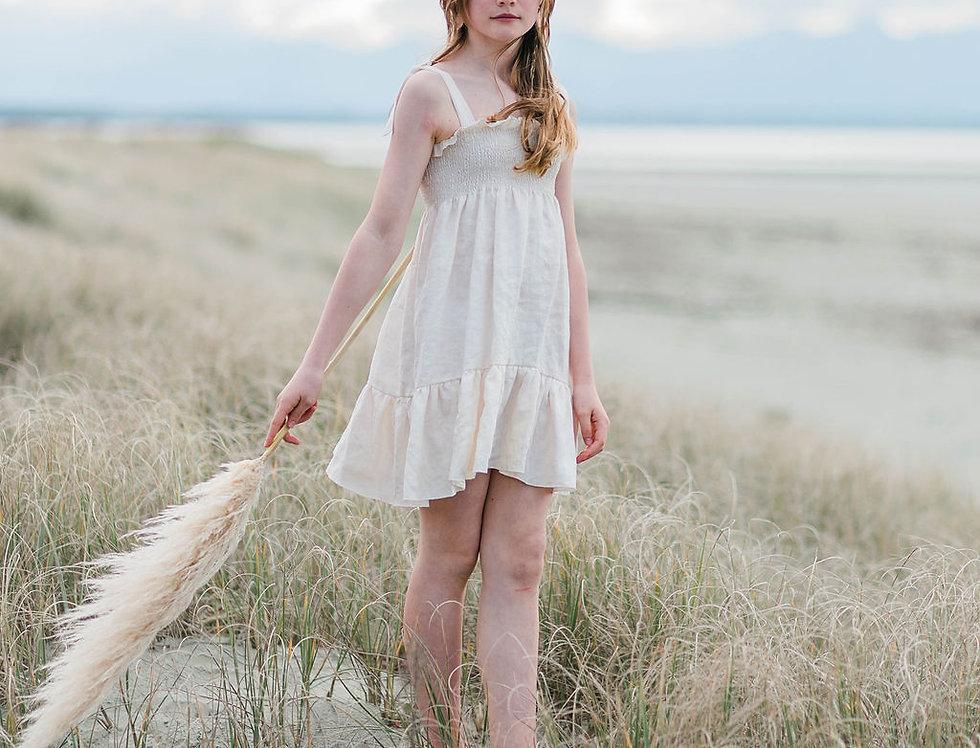 Vanilla Cream Linen Dress