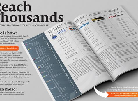 Northwest Aerospace Magazine's 2021 Aerospace Resource Guide: Reserve Your Listing