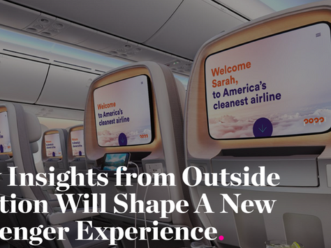 BABC Member Teagues Shares How Insights from Outside Aviation Will Shape A New Passenger Experience