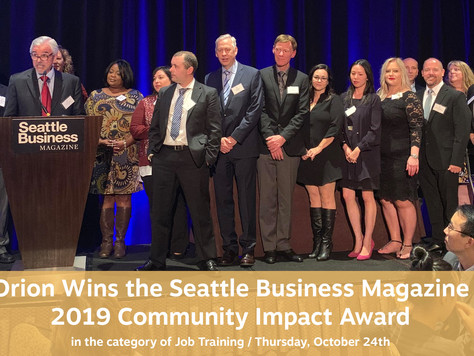 Orion Industries Receives 2019 Community Impact Award