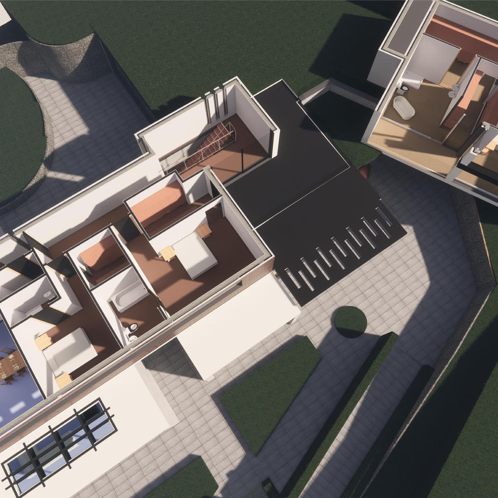 House 1 - Rendering - 3D Floor Plan FF 2