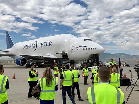 BABC member Boeing's Dreamlifter transports 500,000 protective masks to Utah