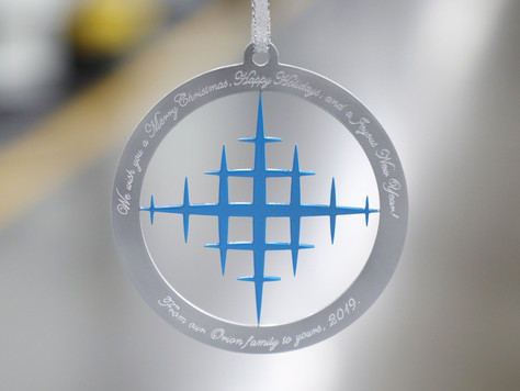 Celebrating the Holidays, Orion Industries Offers 1st Limited Edition Christmas Ornament