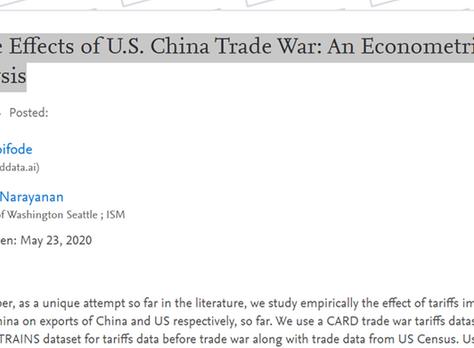 Trade Effects of U.S. China Trade War: An Econometric Analysis