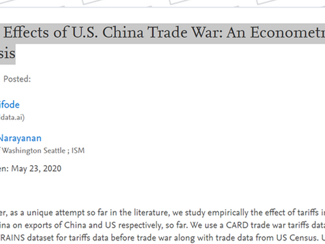 Trade Effects of U.S. China Trade War: An Econometric Analysis