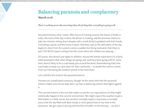 BABC member Verus shares Sound Thinking: Balancing Paranoia and Complacency